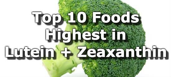 Lutein and zeaxanthin foods