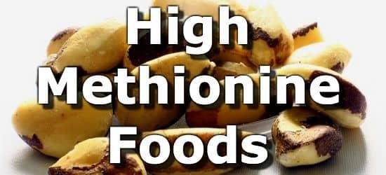 Low Methionine Foods List