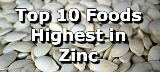 Does chicken contain zinc