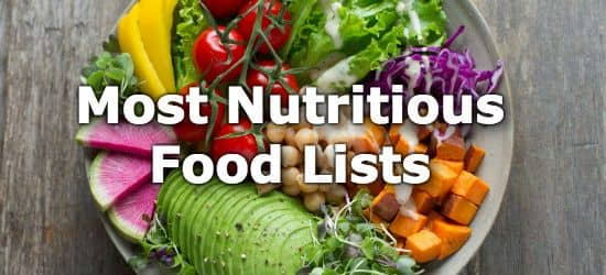 Top 10 Lists for the most nutritious foods