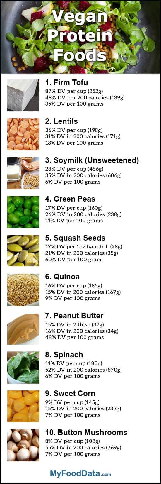 protiens to eat on a vegan diet